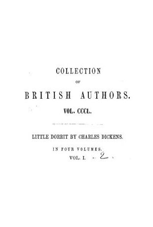 Little Dorrit. in 4 volumes