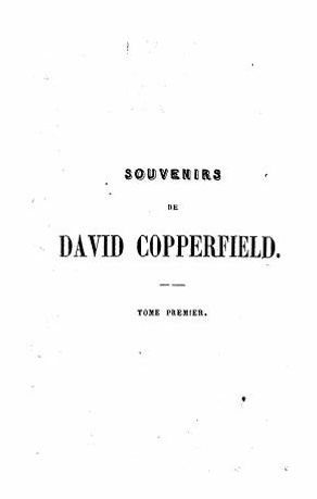 Souvenirs de David Copperfield