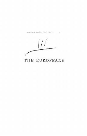 The Europeans. a sketch